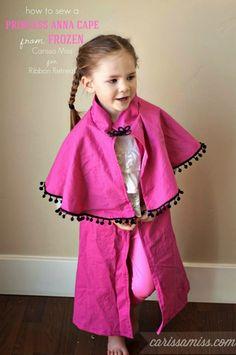 Frozen Inspired Princess Anna Cape - The Ribbon Retreat Blog