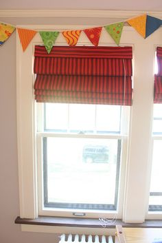 how to make Roman shades via My Life in Transition
