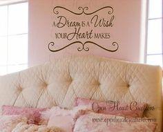 Wish wall art, idea, dreams, dream come true, true wall, wall decals, baby girls, quot, girl rooms