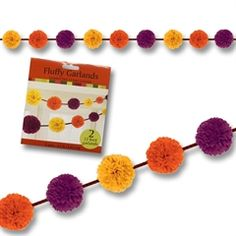 Fall Colors Fluffy Garland from Windy City Novelties