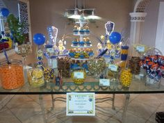 Candy buffet for minion themed party