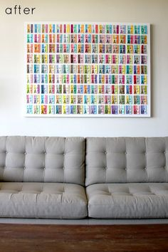 I'm thinking this would be a great way to display all my saved concert tickets from over the years.