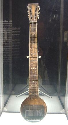 First electric guitar.