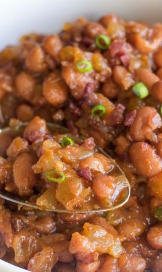 Sweet and Spicy BBQ Baked Beans + Le Creuset Giveaway!