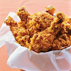 """Crispy Oven-Fried Drumsticks (easy to make dairy free by subbing a diary free milk with some lemon or apple cidar vinegar to make your own """"buttermilk."""" Get Gluten Free corn flakes (most are) for the crunch, and you're all set!)"""