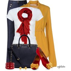 Navy, Red and Yellow Contest 2, created by angkclaxton on Polyvore