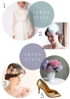 1960s and 1970s wedding inspiration board that I curated for @Etsy    https://www.etsy.com/blog/en/2013/love-my-dress/