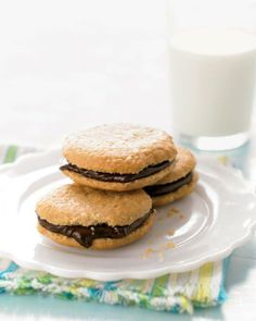 Chocolate Peanut-Butter Sandwich Cookies Recipe