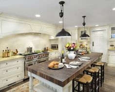 love the lights & the chop block island counter top