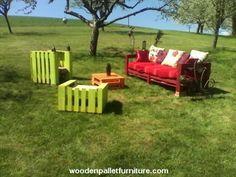 Garden Set Made from Pallets   Wooden Pallet Furniture