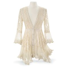 Lace Peplum Jacket - New Age, Spiritual Gifts, Yoga, Wicca, Gothic, Reiki, Celtic, Crystal, Tarot at Pyramid Collection