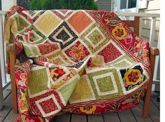 Fun and colorful quilt idea