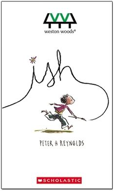 """Peter H. Reynolds shines a bright beam of light on the need to kindle and tend our creative flames with care. A creative spirit learns that thinking """"ish-ly"""" is far more wonderful than """"getting it right"""" in this gentle animated film adaptation of Peter H. Reynolds picture book Ish. Ish DVD is available for $59.95. Also available in bundles with the book and other DVDs. Illustrations © 2004 Peter H. Reynolds. Copyright © 2005 Weston Woods Studios, Inc."""