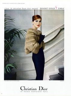Christian Dior (Fur Clothing) 1957 Photo Virginia Thoren