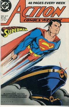 Vintage Action Comics Number 617 from 1988 by winterparkcollect, $4.00