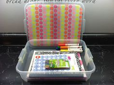 Will have to make these for the kids when we drive to Disney next year! 16 hours in a car with 2 kids under 13, this will help so much! DIY Lap Desk for Road Trips or on Airplane - Stuff to do for kids in the car