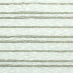 White Slub and Gray Mini Ruffle Stripe Cotton Jersey Blend Knit Fabric