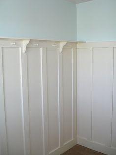 wainscotting & shelf in nursery