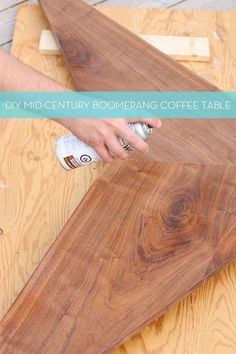 DIY Mid-Century Boomerang Coffee Table!