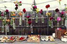 Decoration buffet chic champetre ou vintage pour un for Mariage champetre decoration