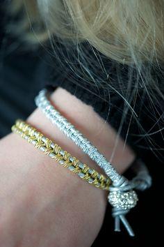 DIY: leather bracelet #DIY
