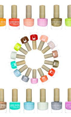 Colorful nail polishes!