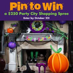 Pin to Win a $250 Party City shopping spree in our Hello Halloween sweepstakes! Plus, 5 runners-up will win a $50 shopping spree. Click the pic for details - it's super-easy to enter! Hurry … sweepstakes ends Oct. 22!
