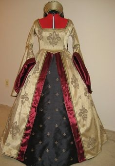 Fleur De Lis Renaissance dress/gown with French hood/Headpiece @Audrey Benson You totally need this!