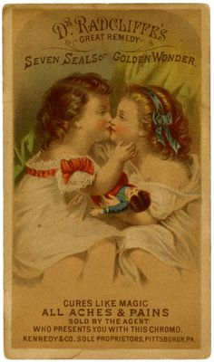 Dr Radcliffe's Great Remedy, Patent Medicine Trade Cards, ca.1900
