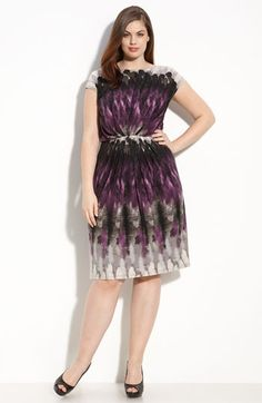 $110 at Nordstrom.com. Beautiful plus size dress with draping and gathering.