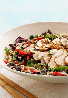 Blueberry-Balsamic Grilled Chicken Salad — Lettuce burnout? Check out our tasty blueberry-balsamic spin on the average grilled chicken salad recipe great for pre-wedding celebrations!