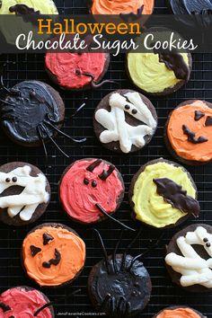 Chocolate Sugar Cookies for Halloween from JensFavoriteCookies.com