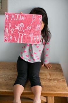 DIY Ink Resistant Art With Kids