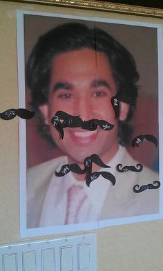 Bridal Shower Game-- Pin the Mustache on the Groom. This made me laugh out loud!