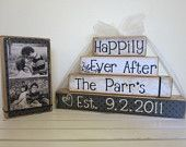 cute DIY idea: Personalized Wedding gift/Decoration Happily Ever After wedding, shower, anniversary, Christmas. $25.00, via Etsy.