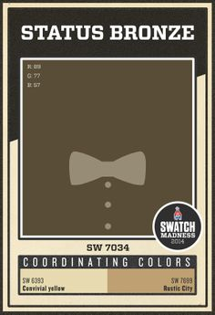 Sherwin-Williams brown paint color - Status Bronze (SW 7034)