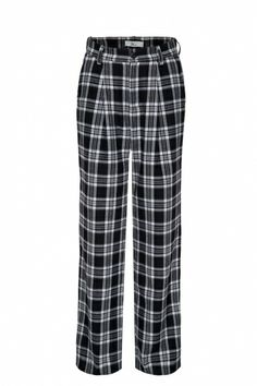 Straight trousers in tartan - FrontRowShop