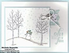 White Christmas Snowman Fun by Michelerey - Cards and Paper Crafts at Splitcoaststampers