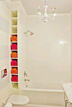 decor, futur, dream, organ, small bathrooms, hous, storage ideas, towels, towel storage