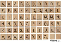 Downloadable SCRABBLE tiles.... and they are FREE!!!
