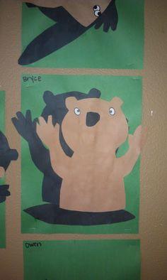 Groundhog Shadows craft for Groundhog Day