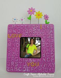 Transform a plain wood frame with craft foam alphabet letters. #diycrafts Kids Alphabet Frame by Heidi Borchers.