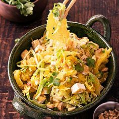 The Best of All Worlds: 5 Healthy Ethnic Dinner Recipes Spaghetti Squash Pad Thai