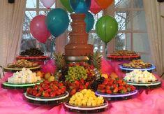 chocolate fountains, birthday, chocolates, food, shower, graduat, parti idea, chocol fountain, dessert