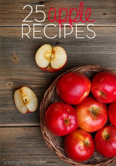 Apples Recipes Abound!Whether you're eating themraw, dipping in caramel and nuts or mixing them upto bake ina pie or tart,here are 25 Apple Recipes to give you some fresh ideasfor fall.