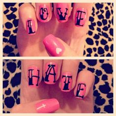 I loved the idea and the design until I saw the cross under hate...Yeah I'd probably get a different design for that thumb nail!