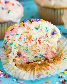 Glazed Funfetti Muffins - Cooking Classy
