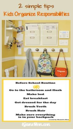 Simple tips for kids to organize responsibilities