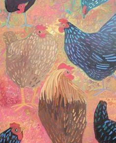 Cool chicken art