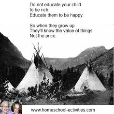 Inspirational #homeschooling quote. More inspiring quotes about the advantages of teaching your child at home as well as fun activities from one of the very few second generation homeschooling families at www.homeschool-activities.com